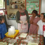 Middle School children enjoy modelling with clay