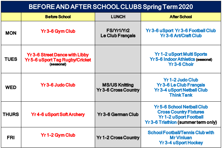 20200103 Before And After School Clubs